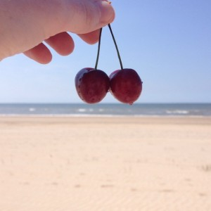 cherries on the beach
